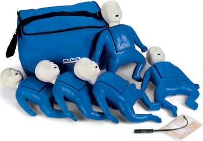 CPR Prompt 5-Pack Infant Training Manikin - Blue