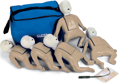 CPR Prompt 5-Pack Infant Training Manikin - Tan