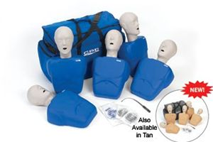 CPR Prompt 5-Pack Adult/Child Training Manikin - Blue